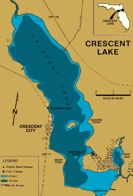 Florida Lakes Map.Lake Crescent Information Guide Florida Lake