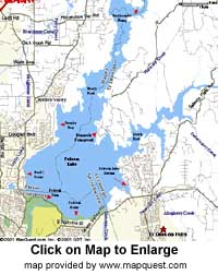 lake folsum map, folsum lake map, california lake maps