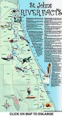 St. Johns River Information Guide - Florida Lakes and Rivers on saint augustine river map, potomac river map, vicksburg river map, st. lawrence river on us map, saint joe river map, saint lawrence river map, oregon river map, south branch river map, saint clair river map, st. mary river florida on map, elizabeth river map, salem river map, saint francis river map, united states river map, lower john day river map, susquehanna river map, st. louis river map, ice in st. clair river map, ohio river map, saint john's florida map,